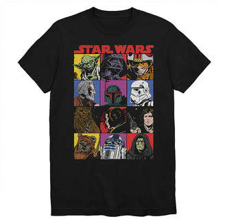 Star Wars Novelty T-Shirts Team Mosaic Graphic Tee