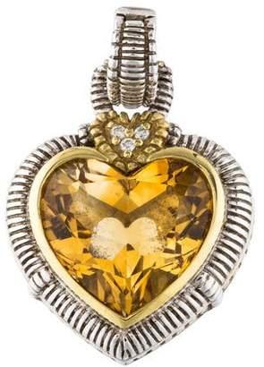 Judith Ripka Citrine & Diamond Large Heart Enhancer