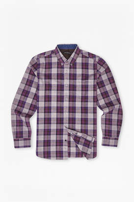 French Connection Scattered Poems Plaid Shirt