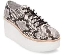 Steve Madden Kimber Platform Snake Print Leather Shoes