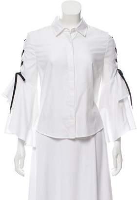 Jonathan Simkhai Long Sleeve Button-Up Top
