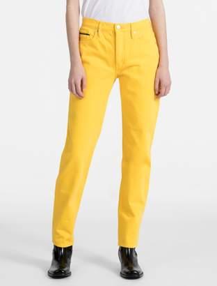 Calvin Klein straight leg high waist jeans