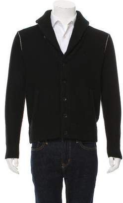 Rag & Bone Woven Button-Up Cardigan