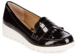 Fringed Leather Flats $108 thestylecure.com