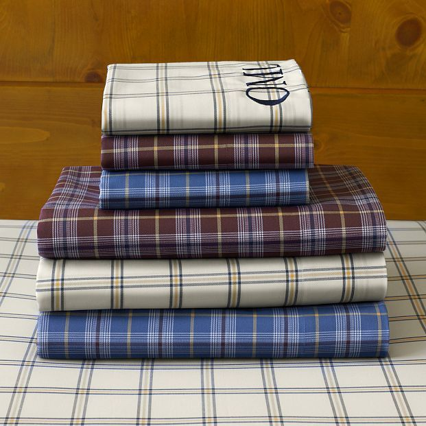 Rugby Plaid Sheet Set
