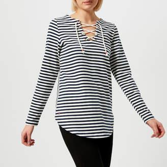 Joules Women's Lacey Lace Front Sweatshirt