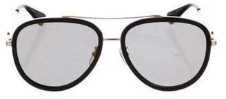 Gucci Mirrored Aviator Sunglasses w/ Tags