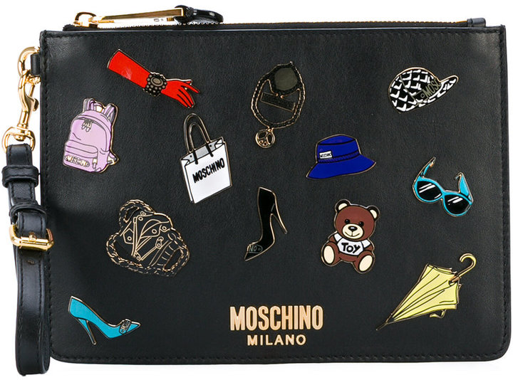 Moschino Moschino pin badge pouch