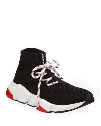 Balenciaga Knit Lace-Up Speed Sneakers