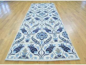 Isabelline One-of-a-Kind Beatriz Arts Crafts Hand-Knotted Ivory Wool Area Rug Isabelline