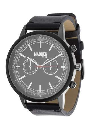 Steve Madden Men's Leather & Alloy 45mm Watch