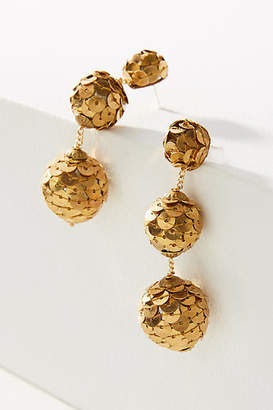 Suzanna Dai Sequin-Wrapped Ball Drop Earrings