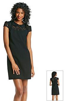 Betsey Johnson Lace Yoke Dress