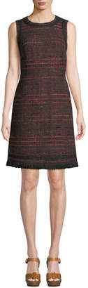 Kate Spade Multi-Tweed Fringe Dress