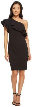 Vince Camuto One Shoulder Ruffle Bodycon Dress Women's Dress