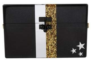 Edie Parker Stars and Stripes Acrylic Box Clutch