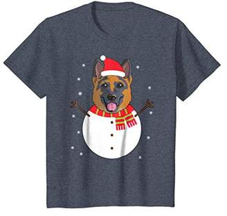 German Shepherd T-Shirt Funny Snowman Christmas Gift Shirt