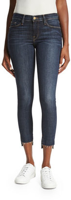 FRAME Le Skinny de Jeanne Stagger Raw-Hem Jeans, Perry Street $225 thestylecure.com