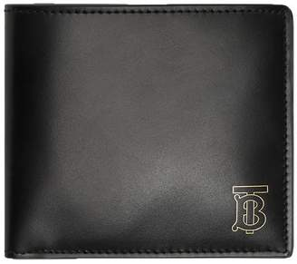 Burberry monogram motif leather bifold wallet