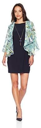 Tiana B Women's Petite Mock Jacket Dress