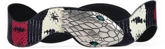 Web printed snakeskin belt $995 thestylecure.com
