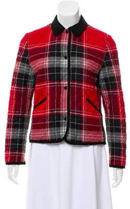 MAISON KITSUNÉ Quilted Plaid Jacket