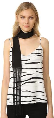Diane von Furstenberg Skinny Rectangle Fringe Scarf $118 thestylecure.com