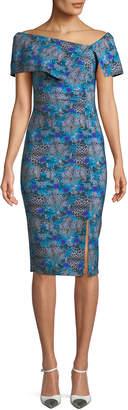 Chiara Boni Egida Off-the-Shoulder Fold-Over Dress
