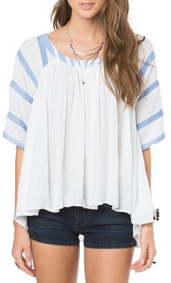 O'Neill 'Emerson' Short Sleeve Peasant Top $59.50 thestylecure.com