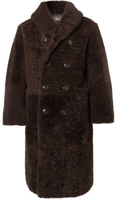 501d35f3a6 Rrl Hendricks Double-Breasted Shearling Coat