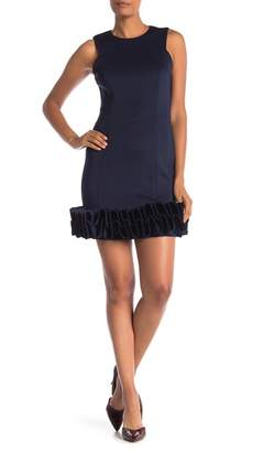 Donna Ricco Ruffle Hem Cocktail Dress