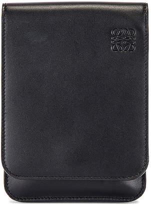 Loewe Gusset Flat Crossbody Bag in Black | FWRD