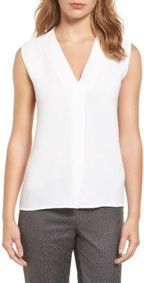 Women's Boss Edrina Crepe & Jersey Blouse $155 thestylecure.com
