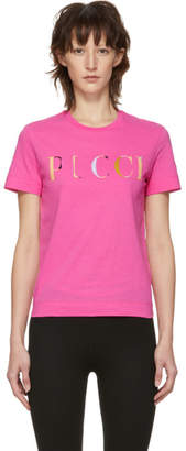 Emilio Pucci Pink Logo T-Shirt