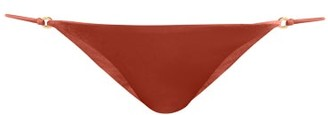 JADE SWIM Aria Low Rise Bikini Briefs - Womens - Dark Red