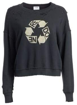 RE/DONE Recycle Distressed Crewneck Sweater