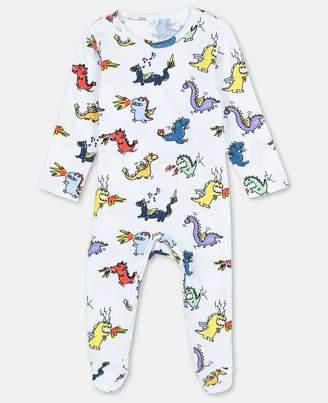 Stella McCartney Dragons Cotton Jersey Playsuit, Unisex
