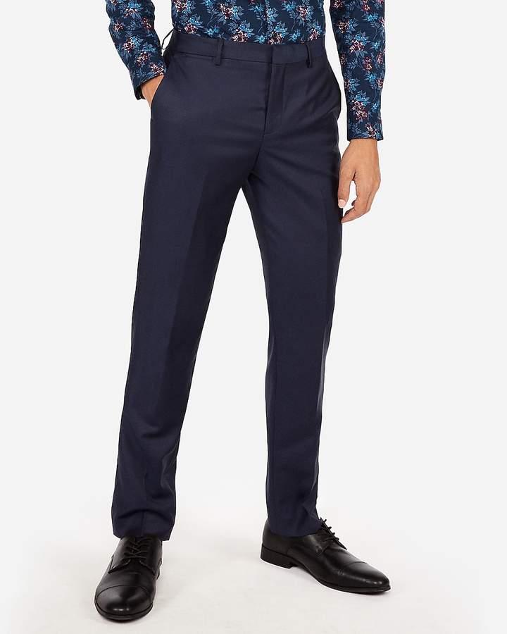 Express Slim Navy Luxury 100% Wool Suit Pant
