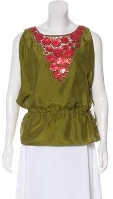 Trina Turk Sequin Silk Top