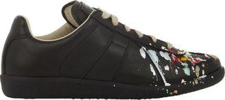Maison Margiela Women's Paint Splatter Replica Sneakers-BLACK $595 thestylecure.com
