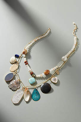 Anthropologie Summer Shells Necklace