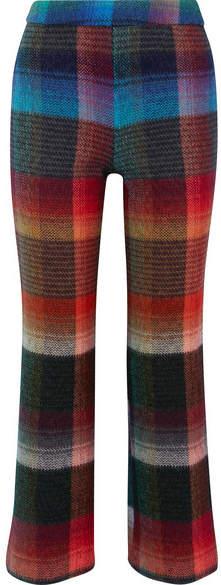 Missoni - Checked Mohair-blend Straight-leg Pants - Blue