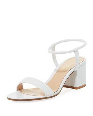Gianvito Rossi Leather Stretch Ankle-Wrap Sandal