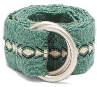 Guanabana - Patterned Woven Belt - Mens - Green Multi