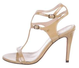 Jean-Michel Cazabat Patent Leather Ankle Strap Sandals