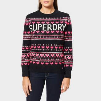 52a5d3cce6562e Superdry Women's Cleveland Fairisle Knit Jumper