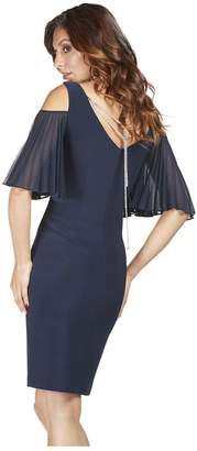 Frank Lyman Midnight Cold-Shoulder Dress