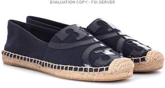 Tory Burch Poppy leather-trimmed espadrilles