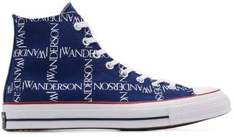 Converse x JW Anderson blue Chuck 70 logo print cotton high top sneaker