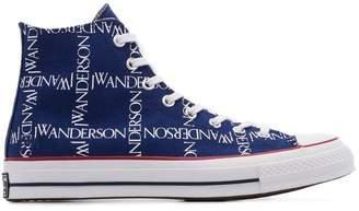 Converse x JW Anderson blue Chuck 70 logo print cotton high top sneaker